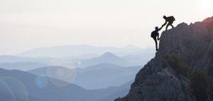 Berg erklimmen